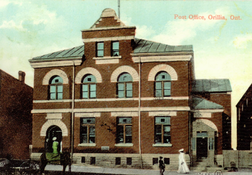 Postcard of OMAH in the early 1900's, when it was a post office