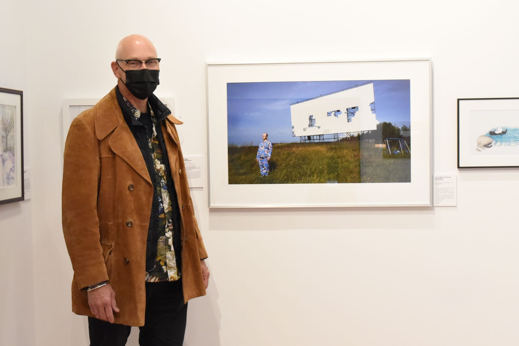 artist Peter Stranks with his submission
