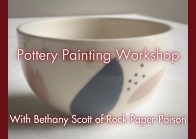 Pottery Painting Workshop with Rock Paper Poison